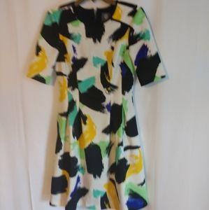 Vince Camuto paint dress size 4